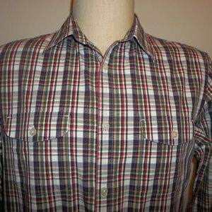 Men's Banana Republic LS Plaid Shirt Sz Large